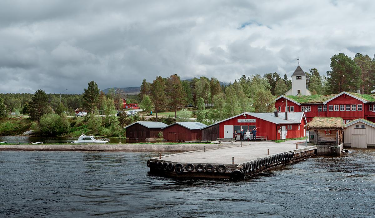 Hafen von Elgå in Norwegen