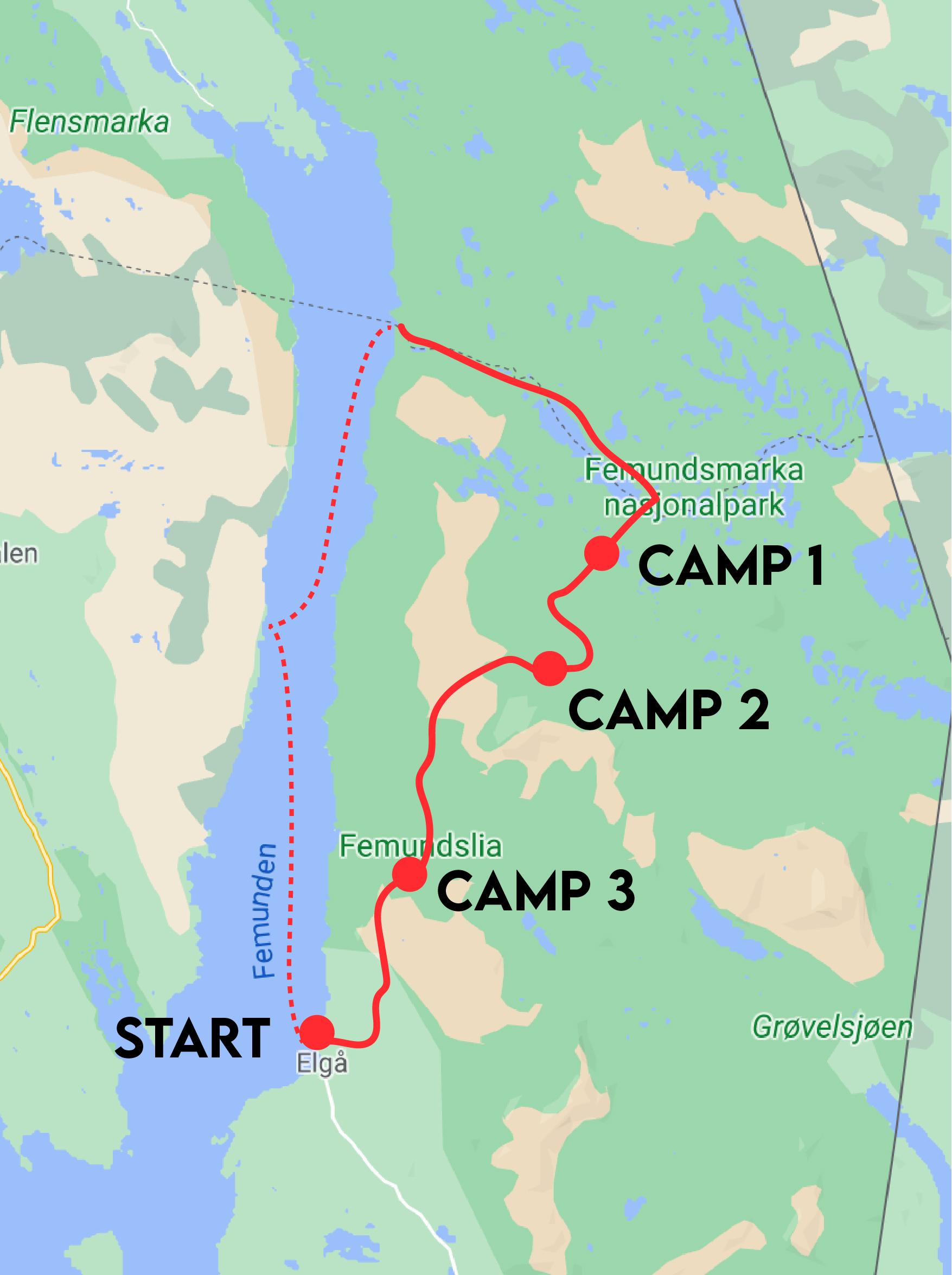 Femundsmarka Nationalpark Map Karte