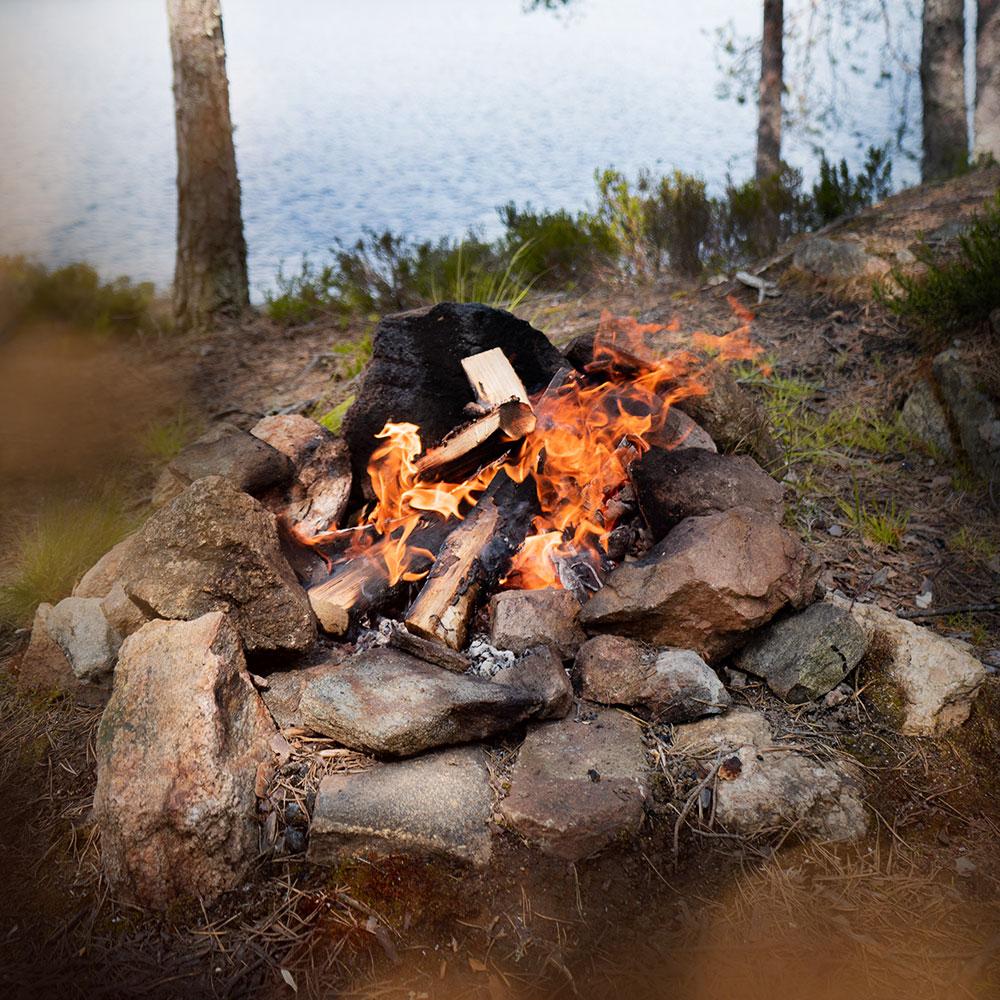 Lagerfeuer im Glaskogen Nationalpark