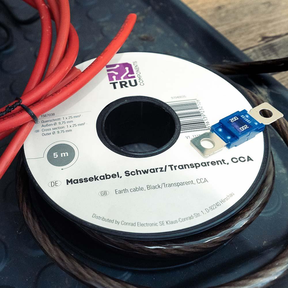Wohnmobile Lithium Batterie Kabelquerschnitt Massekabel