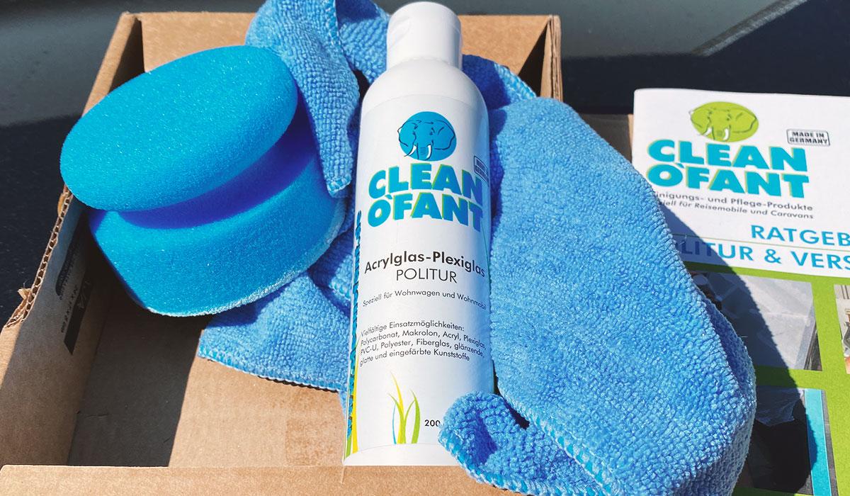 Cleanofant acrylglas plexiglas politur lieferumfang